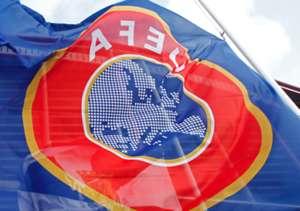 UEFA logo, UEFA flag