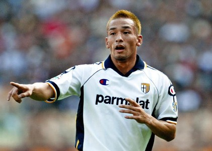 Hidetoshi Nakata Parma Roma Serie A 10192003
