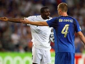 Daniele de Rossi Italy Samuel Kuffour Ghana FIFA World Cup 2006