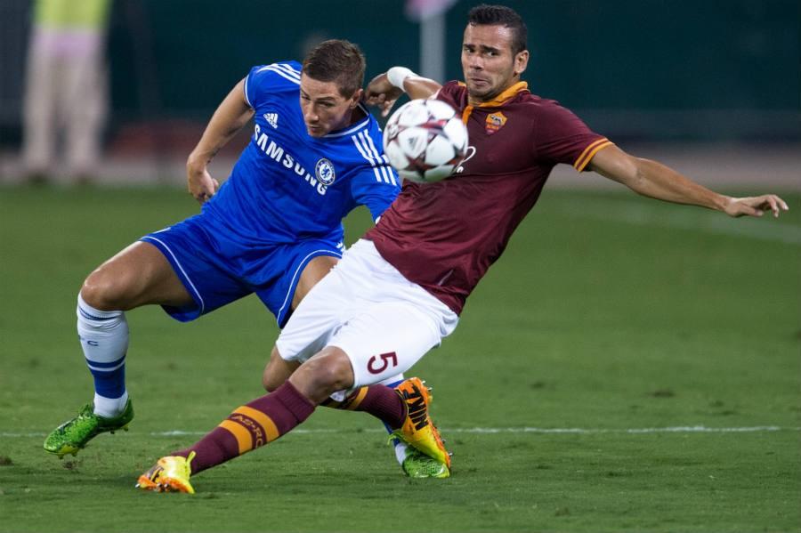 Fernando Torres, Leandro Castan; Chelsea FC - AS Roma