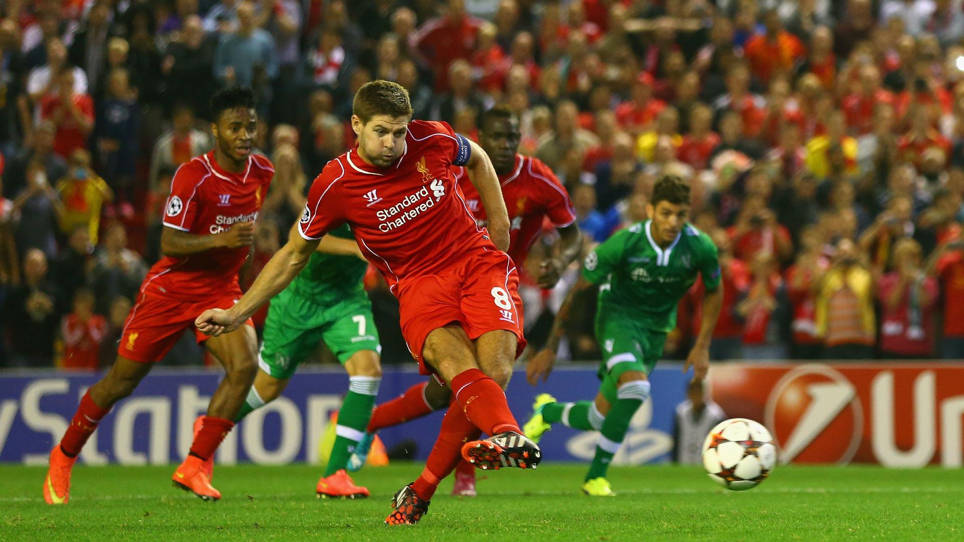 Steven Gerrard Champions League Liverpool v Ludogorets