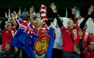 International friendly - Gibraltar - Slovakia - Gibraltar fans