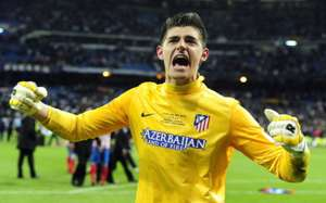 Atletico Madrid goalkeeper Thibaut Courtois (Goal 50)