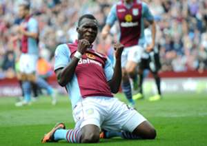 Aston Villa striker Christian Benteke.