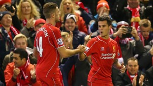 Jordan Henderson Philippe Coutinho Liverpool 21122014