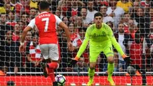 Sanchez Courtois Arsenal Chelsea Premier League