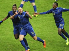KARIM BENZEMA PAUL POGBA FRANCE UKRAINE WCQ 2014 11192013