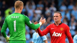 Wayne Rooney Joe Hart Manchester City Manchester United Premier League 22092013