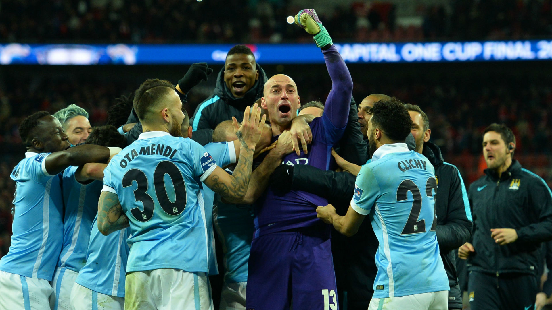 Willy Caballero Manchester City League Cup