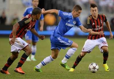 Urby Emanuelson, Fernando Torres, Stephan El Shaarawy - Milan-Chelsea