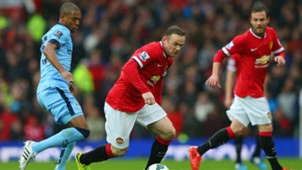 Wayne Rooney Fernandinho Manchester United Manchester City 12042015