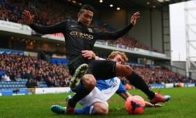 Chris Taylor Gael Clichy Blackburn Rovers Manchester City  FA Cup