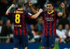 Andres Iniesta Xavi Barcelona 03232014