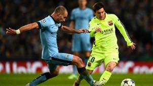 Pablo Zabaleta Manchester City Lionel Messi Barcelona Champions League 24022015