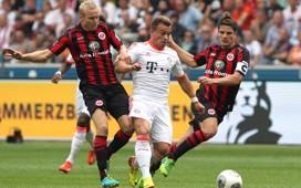 Germany: Eintracht Frankfurt - Bayern Munich, Sebastian Rode, Xherdan Shaqiri, Pirmin Schwegler