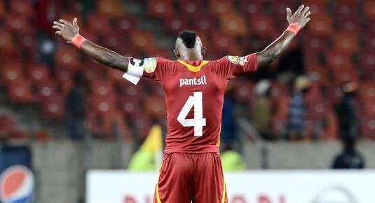 John Paintsil of Ghana celebrates after winning the 2013 Afcon match against Niger