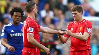 Steven Gerrard Jordan Henderson Chelsea Liverpool Premier League 10052015