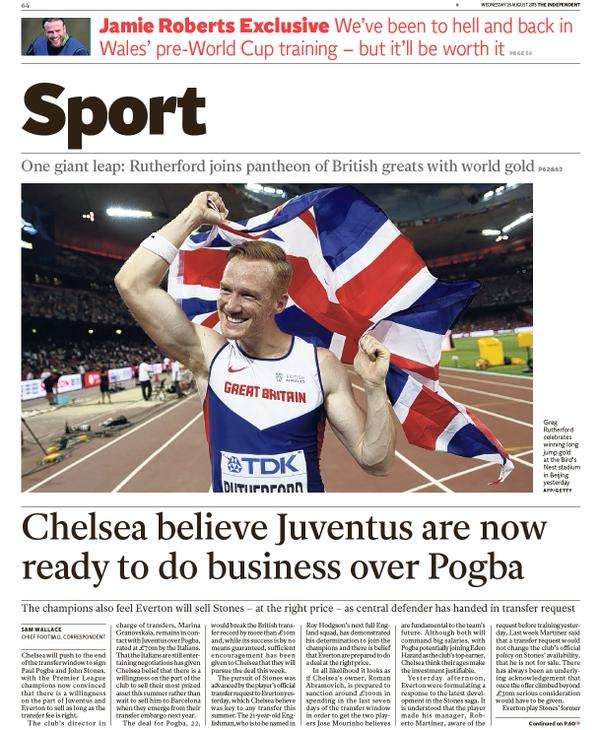 THE INDEPENDENT backpage 26-8-15