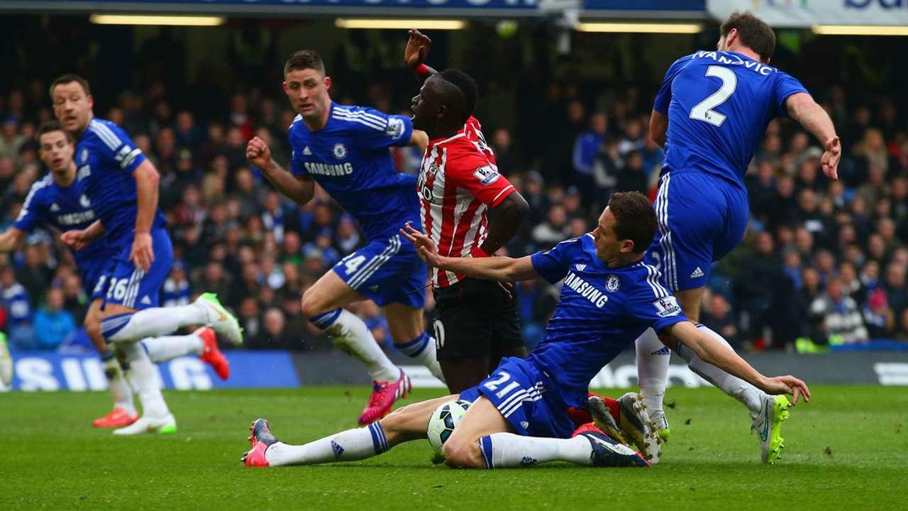 Nemanja Matic & Sadio Mane Premier League Chelsea v Southampton 150315