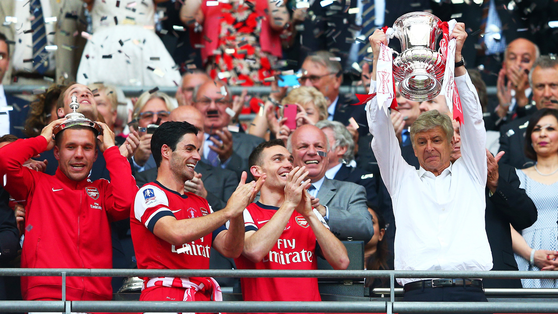 Arsenal win the FA Cup | Wembley | 2014