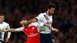 Mousa Dembele Mathieu Debuchy Arsenal Tottenham Premier League 08112015