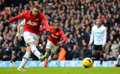 Wayne Rooney Tottenham Hotspur  Manchester United Premier League
