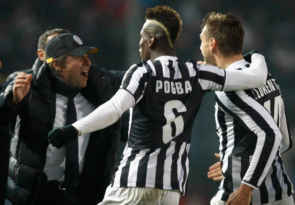 Antonio Conte Paul Pogba Fernando Llorente Juventus