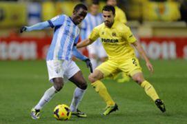 Fabrice Olinga Mario Villarreal Malaga La Liga 11292013