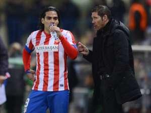 Diego Simeone, Falcao, Atletico Madrid