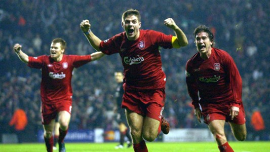 Steven Gerrard Liverpool v Olympiakos 2004