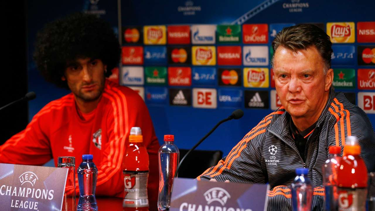 Marouane Fellaini Louis van Gaal Manchester United