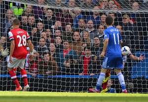 Alex Oxlade-Chamberlain Kieran Gibbs Arsenal Chelsea Premier League 03222014