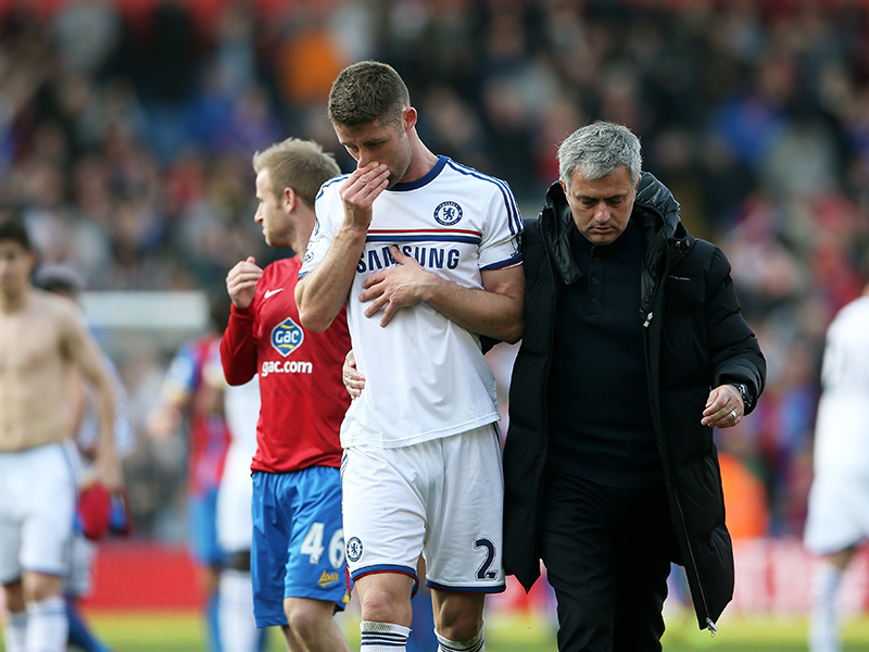Gary Cahill Jose Mourinho Crystal Palace Chelsea English Premier League 03292014