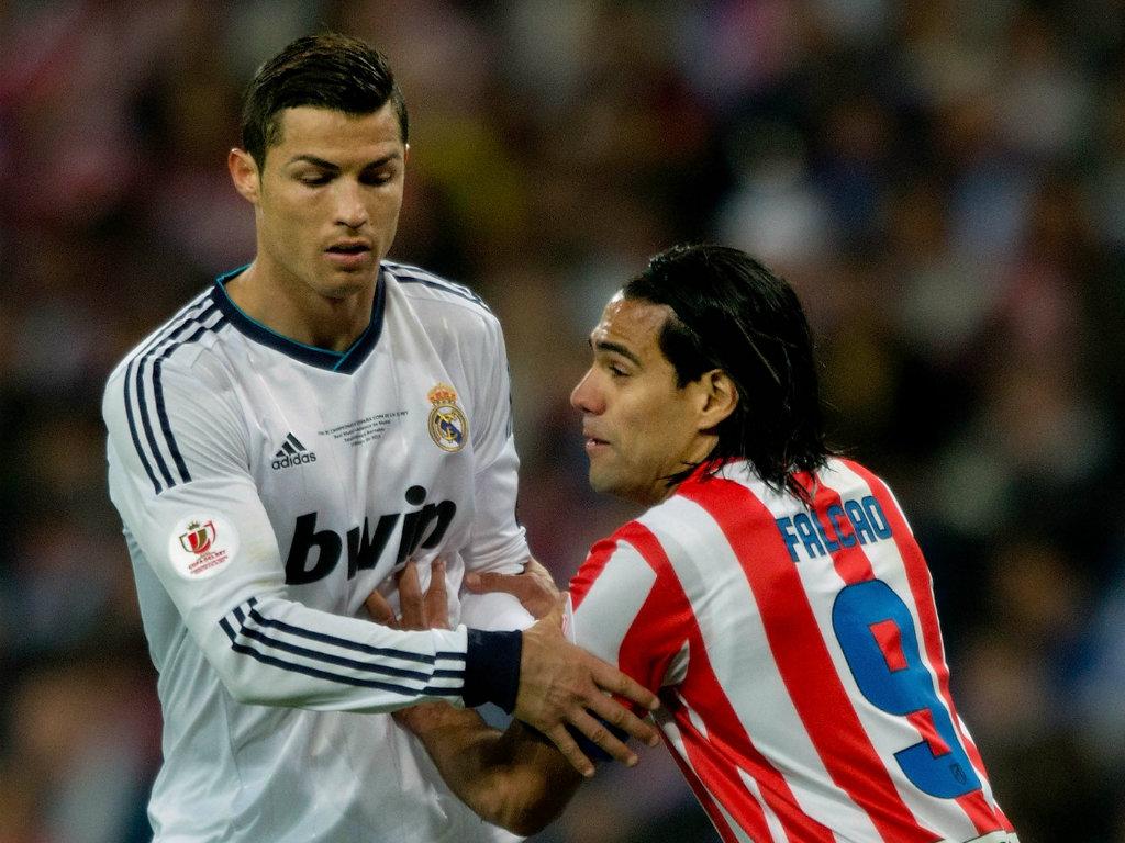 Cristiano Ronaldo Radamel Falcao Real Madrid Atletico Madrid Copa del Rey 05172013