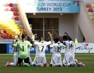 Ghana U-20 Black Satellites praying