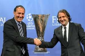 Sevilla and Valencia ambassadors Francisco Lopez and Francisco Rufete