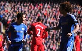 EPL - Liverpool v Chelsea, Eden Hazard & David Luiz