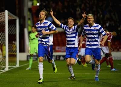 Reading defender Kaspars Gorkss celebrates