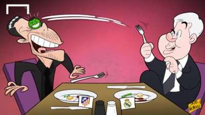 Cartoon: Carlo Ancelotti Diego Simeone Chicharito