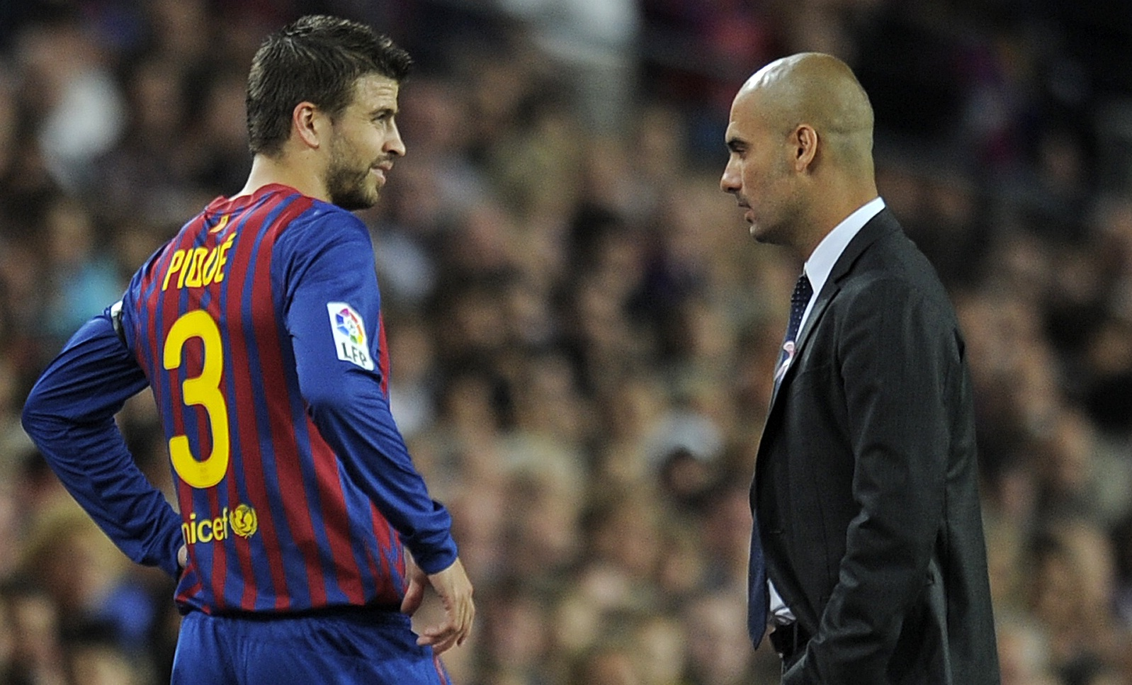 Gerard Pique, Pep Guardiola - FC Barcelona