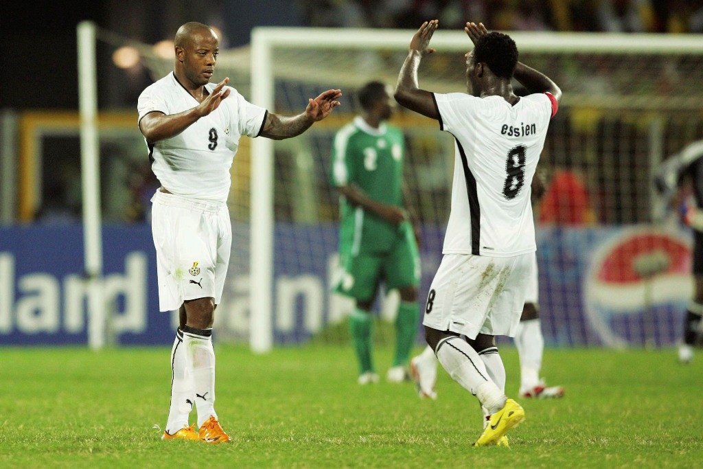 Michael Essien and Junior Agogo Afcon 2008