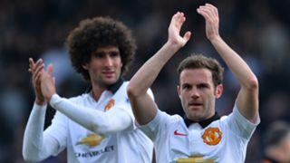 Marouane Fellaini Juan Mata Manchester United