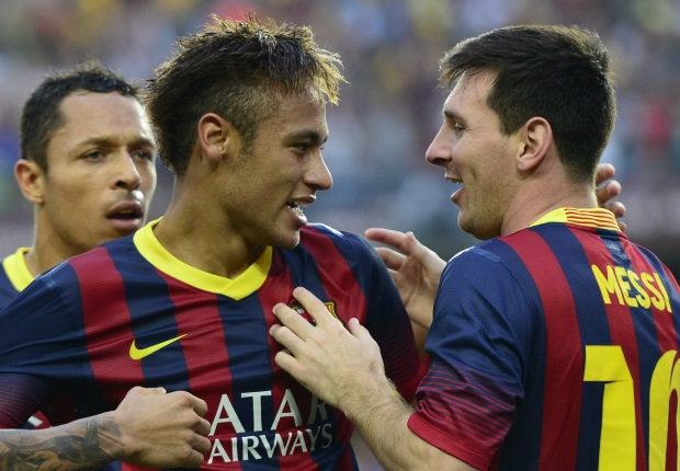 Neymar v Lionel Messi v La Liga v 26112013