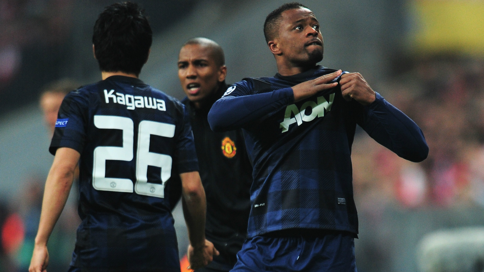 Patrice Evra Manchester United Champions League