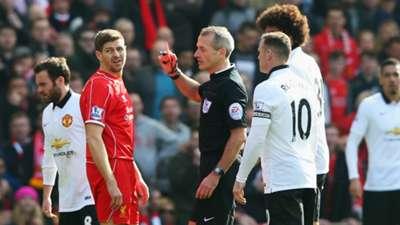 Steven Gerrard Wayne Rooney Marouane Fellaini Liverpool Manchester United Premier League 22032015