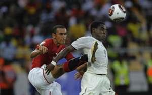 Opoku Agyemang Ghana Ahmed Elmehamady Egypt Africa Cup of Nations 2010  final match