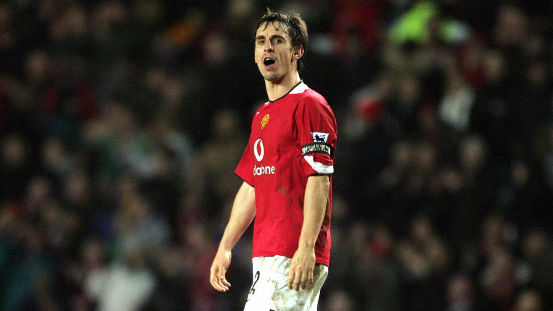 2006 - Man Utd 1-0 Liverpool - Gary Neville celebrates