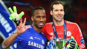 Didier Drogba Petr Cech Chelsea League Cup