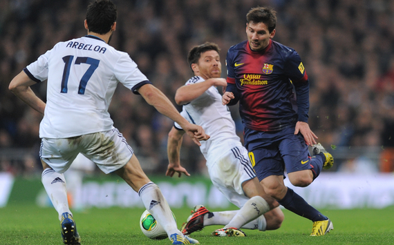 Lionel Messi Xabi Alonso Alvaro Arbeloa