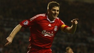 Steven Gerrard Liverpool Real Madrid Champions League 2009